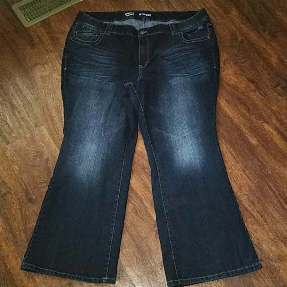 f312c49ee41 Lane Bryant Denim - 🍁 Lane Bryant Lightly Flared Dark Denim Jeans 24